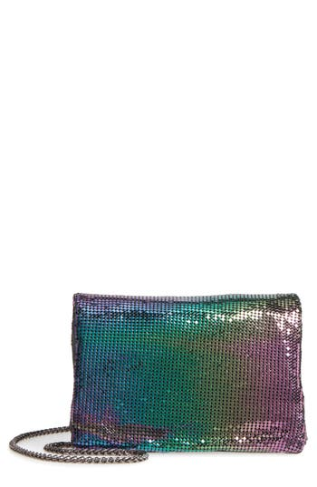 Street Level Metallic Crossbody Bag - Black