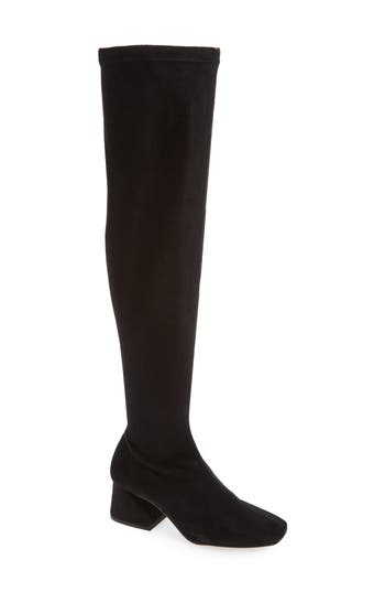 Topshop Cappuccino Over The Knee Boot - Black