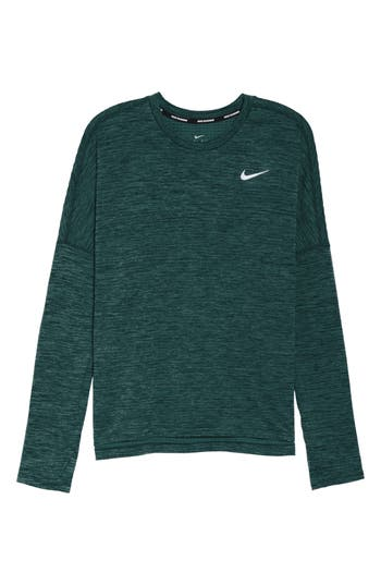 Nike Therma Sphere Element Running Top, Green
