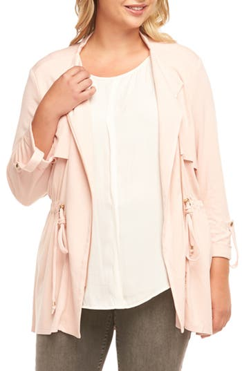 Plus Size Tart Clare Jacket, Coral