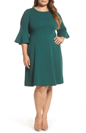 Plus Size Dorothy Perkins Forest Liverpool Fit & Flare Dress, US / 18 UK - Green