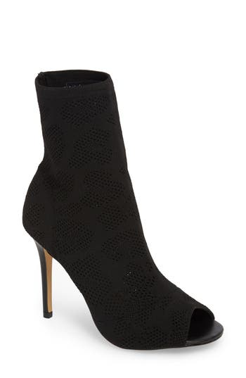 Charles By Charles David Ranger Sock Knit Open Toe Bootie- Black