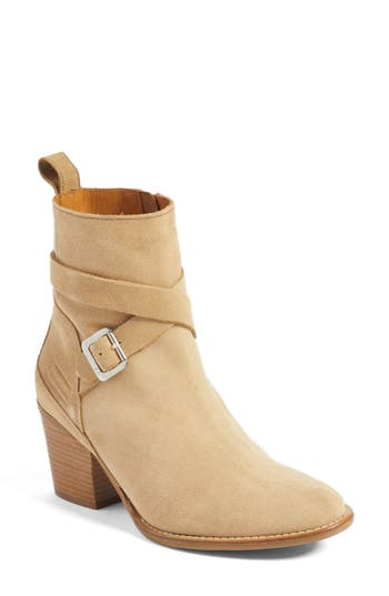 Women's Hunter Refined Water Resistant Strappy Boot, Size 5.5 M - Beige