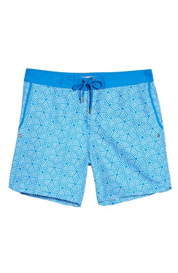 Mr. Swim Geo Print Swim Trunks, Blue