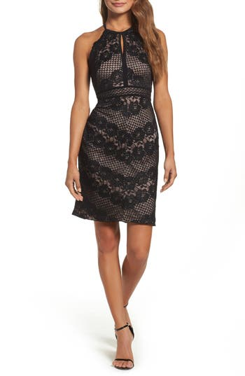 Morgan & Co. Mitered Lace Dress