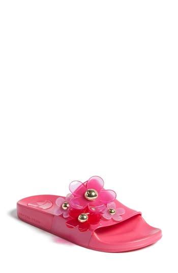 Women's Marc Jacobs Daisy Aqua Slide Sandal, Size 8US / 38EU - Pink