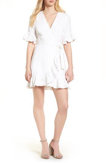 Women's Wayf Ruffle Wrap Dress, Size X-Small - Ivory