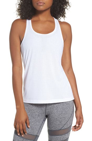 Zella Hollywood Mesh Tank, White