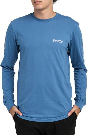 Rvca Lobitos Long Sleeve Graphic T-Shirt, Blue