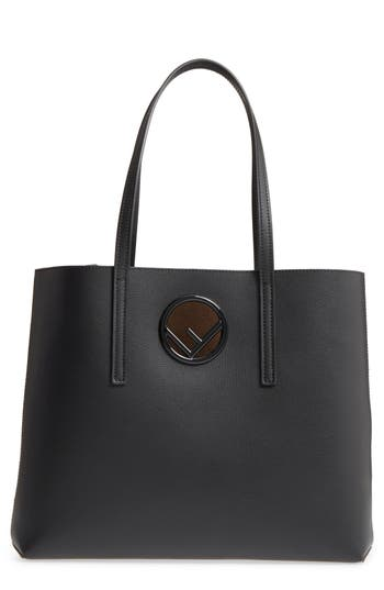 Fendi Logo Leather Shopper
