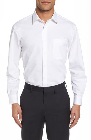 Nordstrom Men's Shop Tech-Smart Traditional Fit Stretch Pinpoint Dress Shirt