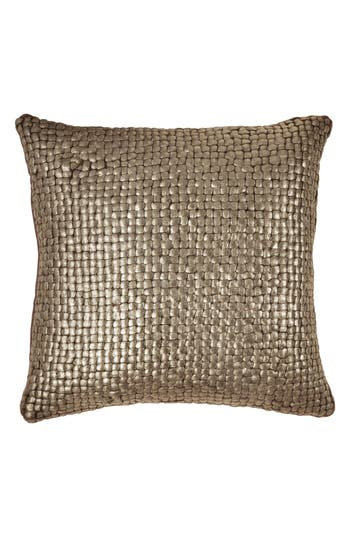 Michael Aram Metallic Basket Weave Accent Pillow, Size One Size - Brown