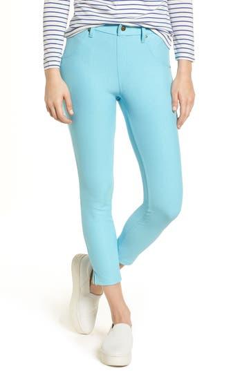 Hue Split Hem Denim Leggings, Blue