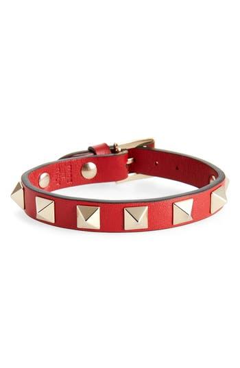 Women's Valentino Rockstud Leather Bracelet