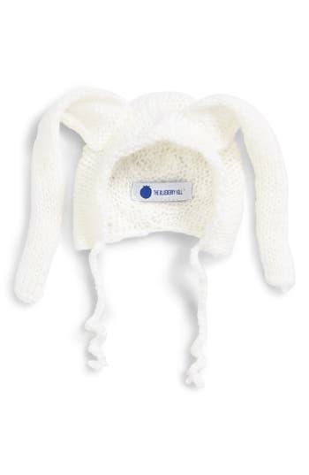Infant The Blueberry Hill Bunny Knit Bonnet - White
