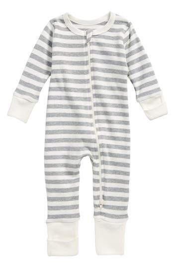 Infant Boys City Mouse Stripe Organic Cotton Romper