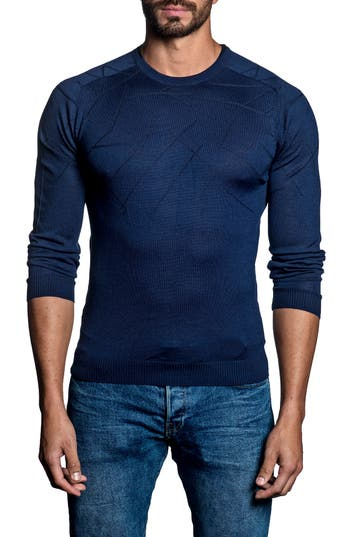 Jared Lang Slash Sweater, Blue
