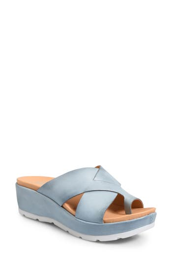 Kork-Ease Baja Wedge Sandal, Blue