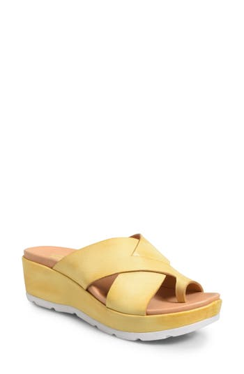Kork-Ease Baja Wedge Sandal, Yellow