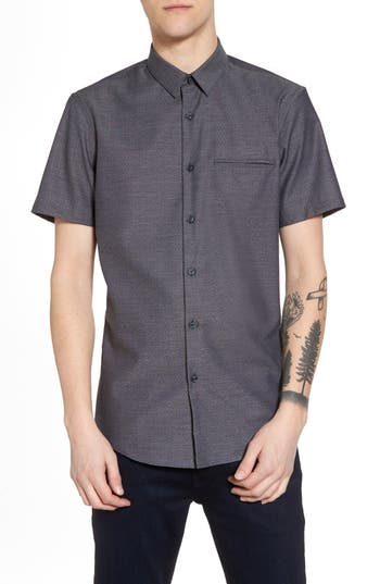 Calibrate Trim Fit Jaspe Short Sleeve Sport Shirt