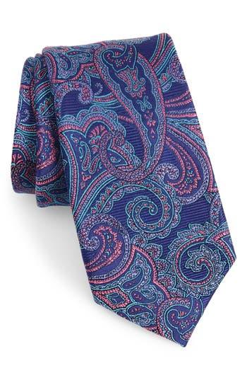 Men's Nordstrom Men's Shop Avalon Paisley Silk Tie, Size X-Long - Blue