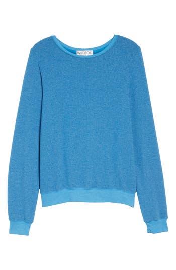 Women's Wildfox 'Baggy Beach Jumper' Pullover, Size XX-Small - Blue