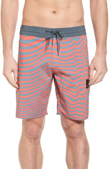 Volcom Mag Vibes Stoney Boardshorts, Red
