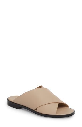 Marc Fisher Ltd Idinia Crisscross Slide Sandal, Beige