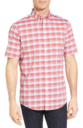 Nordstrom Shop Regular Fit Plaid Sport Shirt, Red