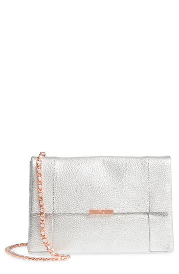 Ted Baker London Parson Leather Crossbody Bag - Metallic