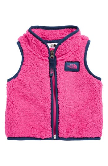 Infant Girl's The North Face Campshire Fleece Vest, Size 0-3M - Pink