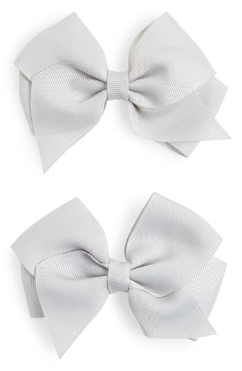 Plh Bows & Laces Bow Clips, Size One Size - Grey