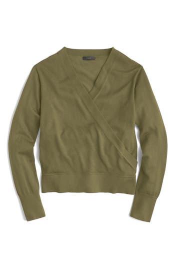 J.crew Merino Wrap Sweater, Green