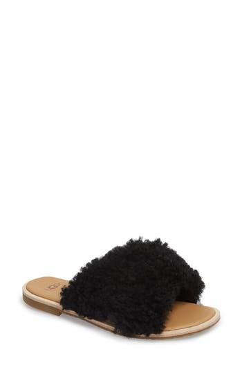 UGG® Joni Genuine Shearling Slide Sandal