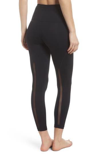 Zella Lightweight High Waist Midi Leggings, Black