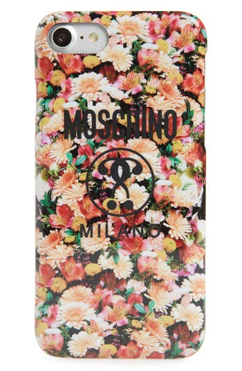 Moschino Floral Print Iphone 6/7/8 Case - Pink