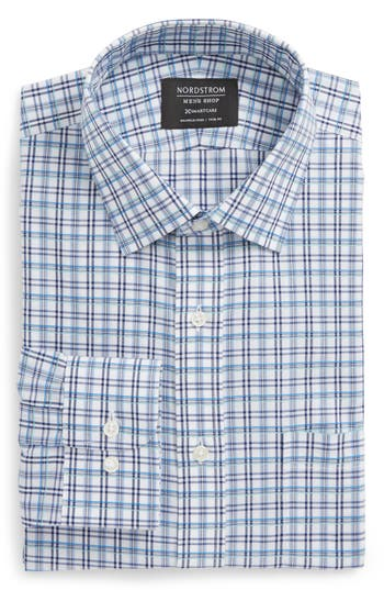 Men's Nordstrom Men's Shop Smartcare(TM) Trim Fit Plaid Dress Shirt
