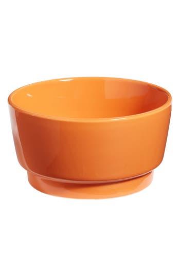 Waggo Gloss Ceramic Dog Bowl, Size Small - Orange