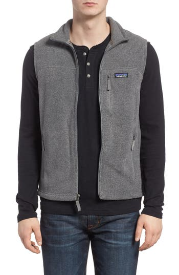 Men's Patagonia Classic Synchilla Fleece Vest, Size Small - Grey
