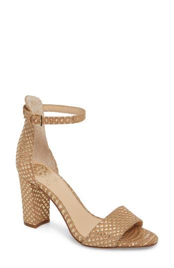 Women's Vince Camuto Corlina Ankle Strap Sandal, Size 11 M - Metallic