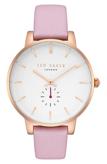 Ted Baker London Olivia Leather Strap Watch