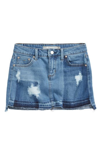 Girls Tractr Destructed Frayed Hem Skirt