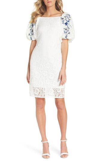 Taylor Dresses Lace Sheath Dress, White