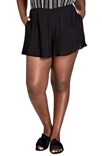City Chic Sweet Frill Shorts