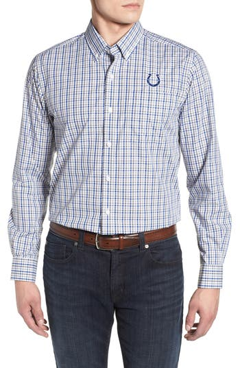 Cutter & Buck Indianapolis Colts - Gilman Regular Fit Plaid Sport Shirt