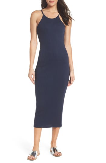 women's french connection tommy rib knit tank dress