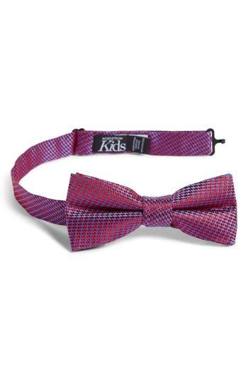 Boys Nordstrom Digital Print Silk Bow Tie Size Big Boy  Red
