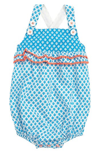 Infant Girls Mini Boden Hotchpotch Bubble Romper