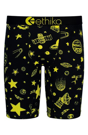 Boys Ethika Ceiling Stars Stretch Boxer Briefs Size M  810  Black
