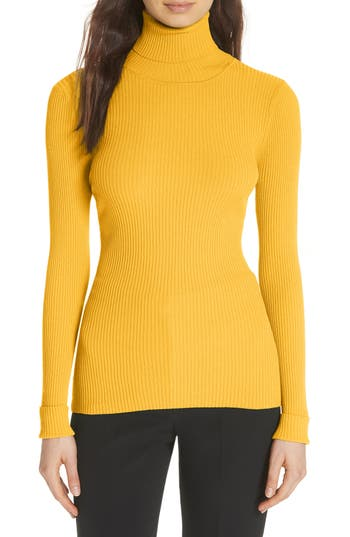 MILLY RIBBED TURTLENECK SWEATER